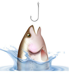 Fishery realistic vector