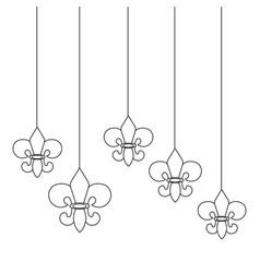 Fleur de lis hanging vector