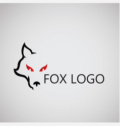 fox logo ideas design on background vector image