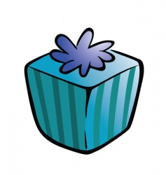 gift wrapped vector image