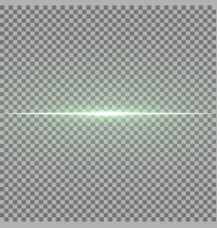 glowing line with sparks light effect green color vector image