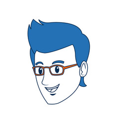 Head guy cartoon young people profile vector