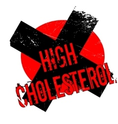 High Cholesterol rubber stamp vector