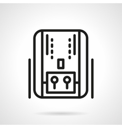 Home heating system black line icon vector image