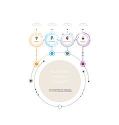 Infographic 3d circle label design vector