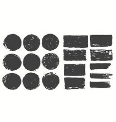 ink brush strokes set paint spots hand made vector image