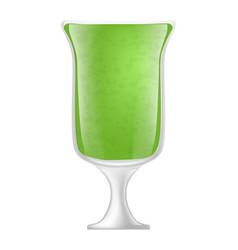 kiwi smoothie icon realistic style vector image