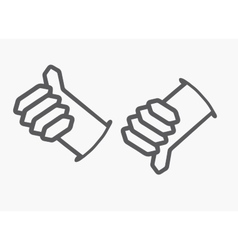 Like and Dislike button Thumb up and down hand vector