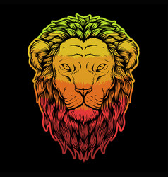 lion head colorful vector image