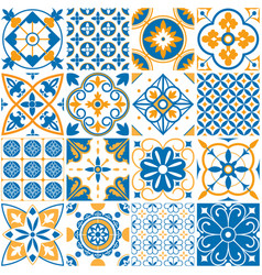 Mediterranean pattern decorative lisboa seamless vector