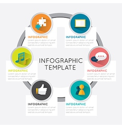 Modern infographic template circle vector