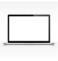 modern laptop isolated on white background vector image