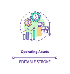 Operating assets concept icon vector
