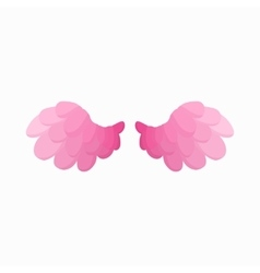 Pair of pink bird wings icon cartoon style vector image