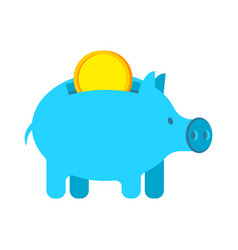 pig piggy bank and coin financial accumulation vector image