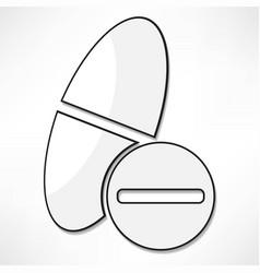 pills health medical icon vector image