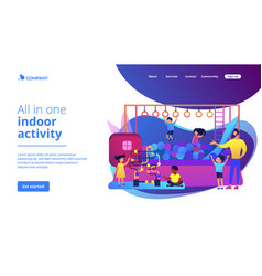 Playroom for kids concept landing page vector