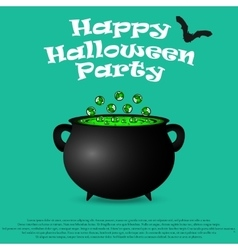 Postcard invitation to the Halloween party vector