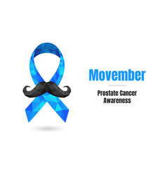 prostate cancer awareness month concept with blue vector image