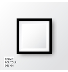 Realistic picture frame vector image