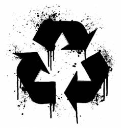 recycle grunge symbol vector image