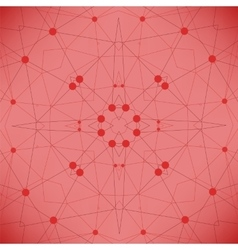 Red Technology Background with Particles vector image vector image