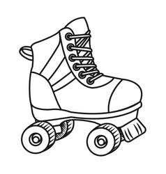 Roller skate cartoon vector