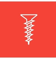 Screw line icon vector image