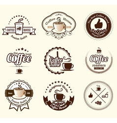 Set of vintage retro coffee badges and labels vector