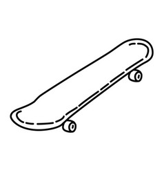 skateboard icon doodle hand drawn or outline icon vector image