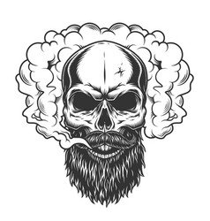 Skull in the smoke vector