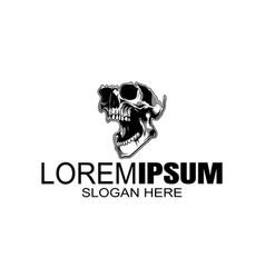 skull logo icon or skull skeleton vector image
