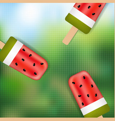 Summer banner with ice cream vector