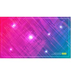 tech fashion print design with neon stripes and vector image