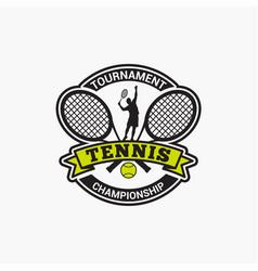 Tennis club badge logo-2 vector