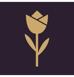 The flower blossom icon plant and garden symbol vector
