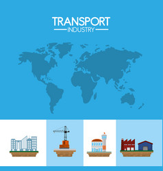 Transport industry concept vector