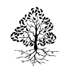 Tree icon silhouette vector image