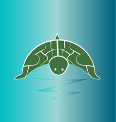 turtle wildlife preservation vector image