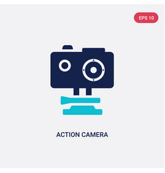 Two color action camera icon from computer vector