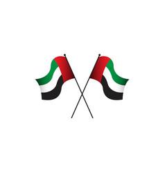 Uae flag template design vector
