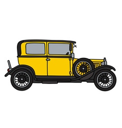 Vintage yellow car vector image