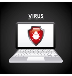 Virus icon vector