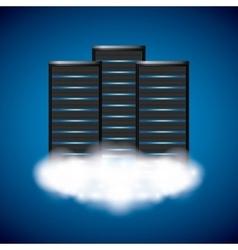 Web hosting icon technology design vector