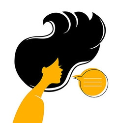 Womans silhouette vector image vector image