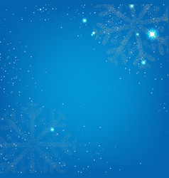 xmas banner with snowflake vector image