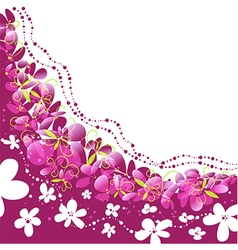 floral background pattern with flowers vector image
