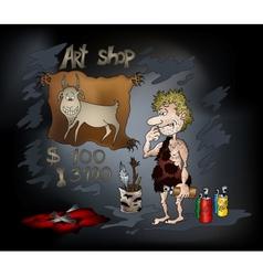 prehistoric artist vector image