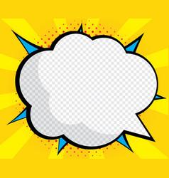 abstract blank speech bubble pop art comic book vector image vector image