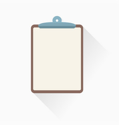 clipboard icon in flat style vector image vector image